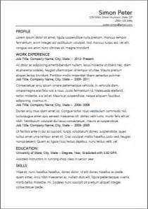 resume in third person resume person or third