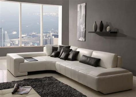 Modern Living Rooms With Leather Sofa Designs