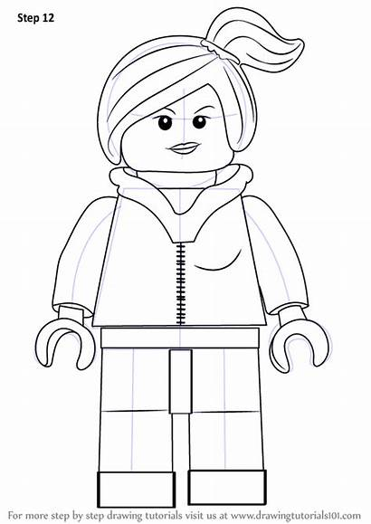 Lego Draw Wyldstyle Drawing Step Coloring Pages