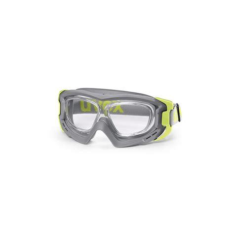 schutzbrille mit sehstärke uvex uvex rx goggle vollsichtbrille hellgrau lime schutzbrille mit sehst