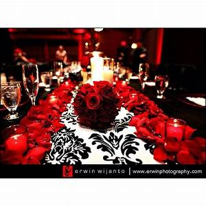 Damask wedding red & black | Wedding black red theme ...