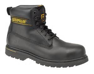 cat steel toe boots caterpillar cat holton black sb work boots with steel toe