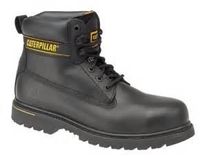 s steel cap boots nz caterpillar cat holton black sb work boots with steel toe caps ebay