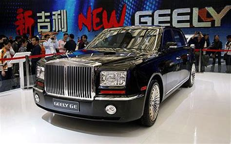 geely rolls  updated ge limousine  truth  cars