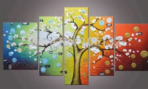 panel large money tree oil painting  canvas art feng