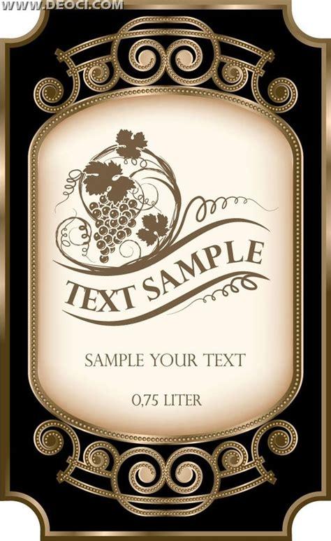 Wine Label Template Wine Bottle Label Template Free Search
