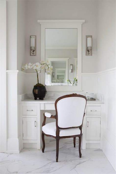 Master Bathroom Vanity With Makeup Area by Marble Top Vanity Traditional Bathroom Milton