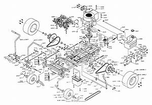 Dixon Ztr 361  1993  Parts Diagram For Chassis Assembly
