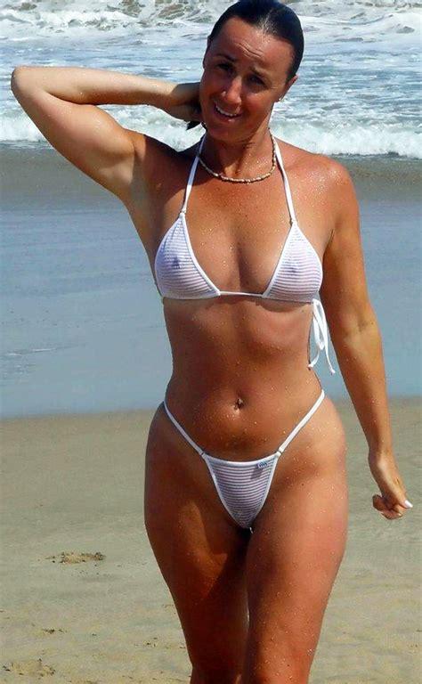 amateur milf in sexy bikini on the beach perfect body