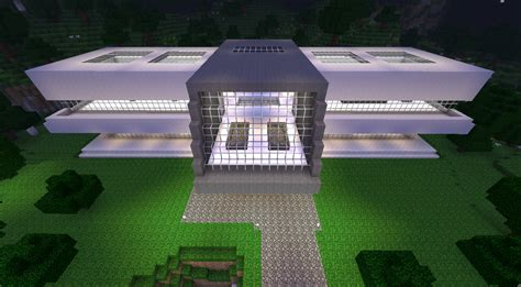 plan de maison moderne minecraft