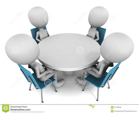 Summit Clipart Round Table Discussion