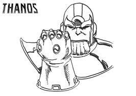 thanos running coloring page  printable coloring