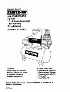 Craftsman 921 153100 User Manual