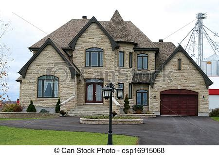 house plans with turrets stock image of executive house with turret