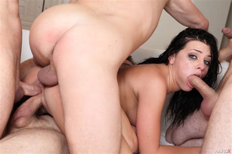 Adriana Chechik Having A Gang Bang On Hard X