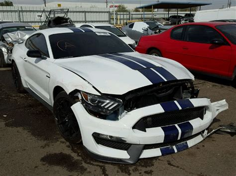 image wrecked  ford mustang shelby gt image
