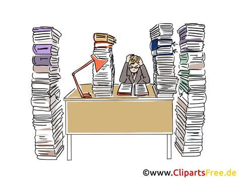 Zu viel Arbeit Clipart, Grafik, Bild, Cartoon