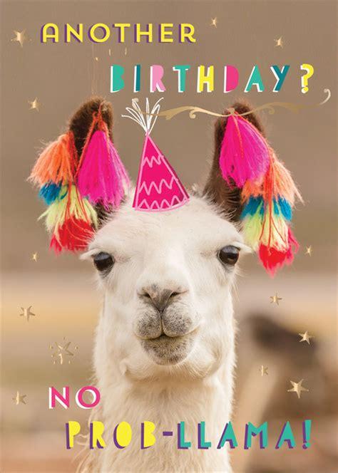 ling design   prob llama birthday card lnq