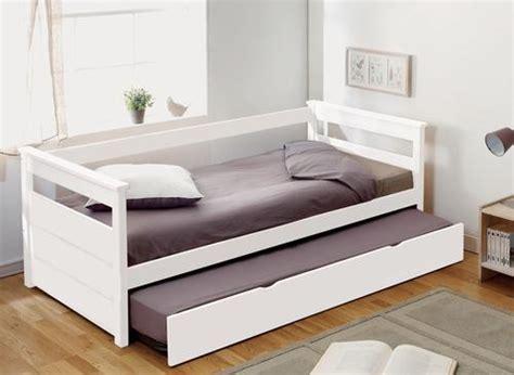 banquette lit avec tiroir lit laque blanc 224 149 en