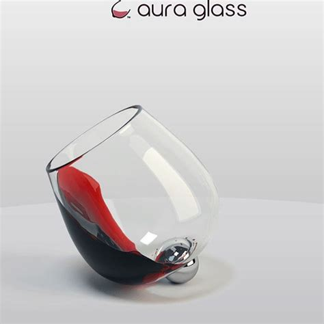 2264 aura wine glasses a uniquely designed glass that pivots on a stainless steel