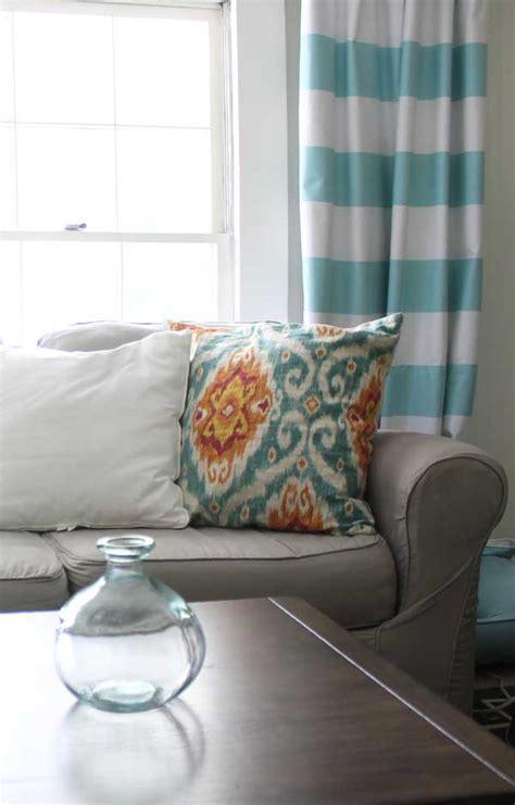 horizontal striped curtains how to make horizontal striped curtains