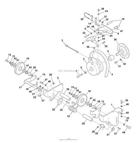 bunton bobcat ryan   turn riding mower parts diagram  deck drive system