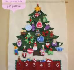 christmas tree advent calendar pattern 29 ornaments