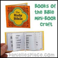 Books of the Bible Mini Book Craft from www.daniellesplace ...