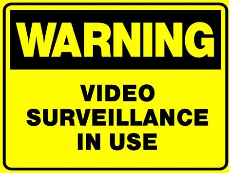 2 Signs Video Surveillance In Use Camera Sign 300x200