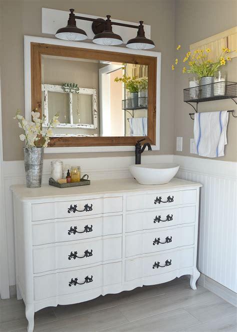 40419 painted bathroom cabinets white honest review of my chalk painted bathroom vanities