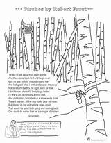 Frost Robert Coloring Birches Poem Poems Poetry Pages Printable Snow Analysis Words Poet Template 6th Teacher Grade English Stevens Wallace sketch template