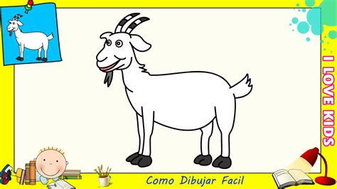 Como dibujar una cabra FACIL paso a paso para niños y