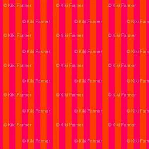 Neon Orange and Pink Vertical Stripes fabric paper and