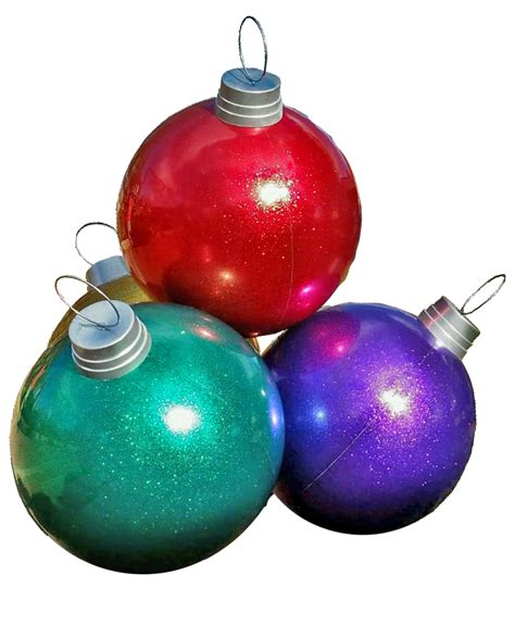 ball giant ornament stack commercial christmas supply