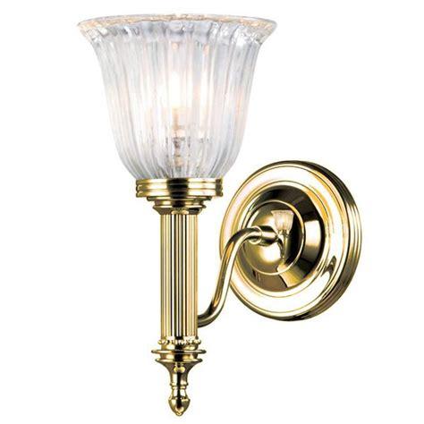 elstead carroll 1 bathroom wall light polished brass