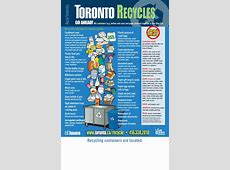 15280653 City Of Toronto Recycling Poster