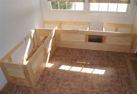 Build a banquette bench to fit more people around the table in less space. Kitchen Bench Seating With Storage Plans | Diy storage bench