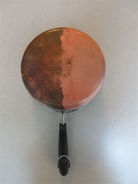 cleaning tarnished copper pots  easy