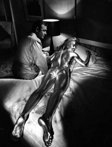 roger moore goldfinger sean connery and shirley eaton in quot goldfinger quot 1964