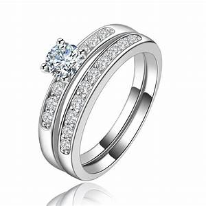 high quality 2pc women wedding ring sets platinum lady With wedding rings sets platinum