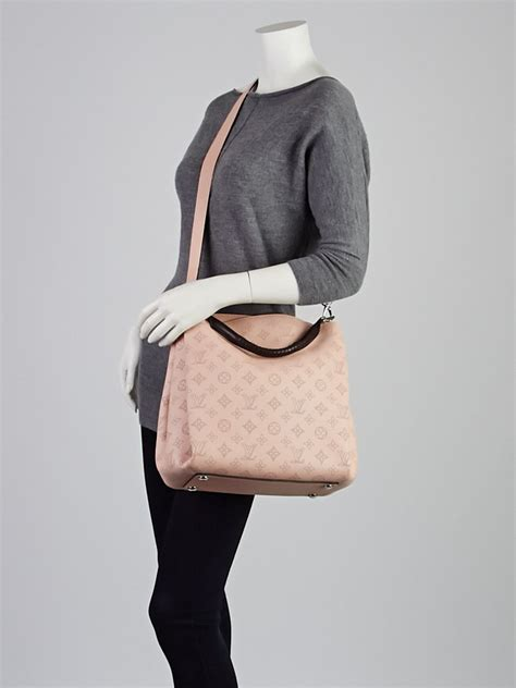 louis vuitton magnolia monogram mahina babylone pm bag