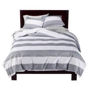 splurge vs steal grey white stripe bedding casita designs