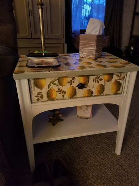 """You can select the ones that best suit your sofa sets and your decor. Decoupaged Coffee Table - """"Lemons"""" 