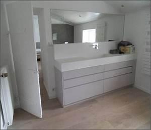meuble de salle de bain avec plan de travail maison With meuble salle de bain avec plan de travail