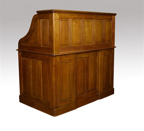 antique oak roll top desk oak pedestal roll top desk antiques atlas