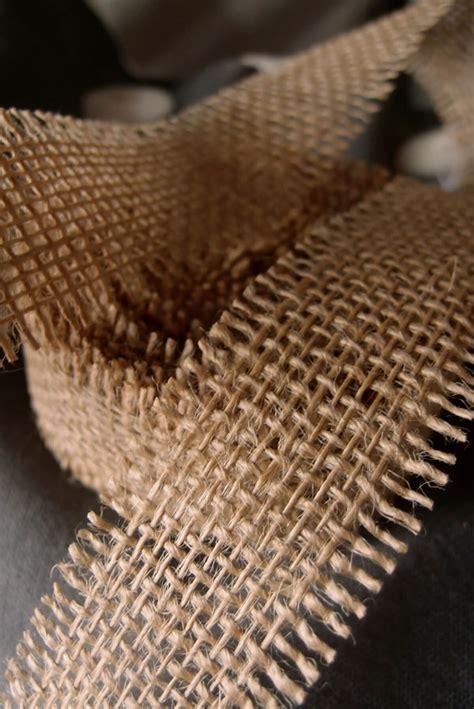 natural burlap ribbon open weave     yards