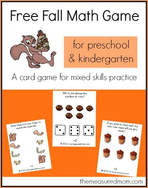free fall math for preschool amp kindergarten nuts 151 | fall math game