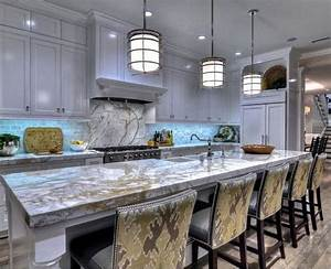 Porcelain slab countertops: light and durable - Decor