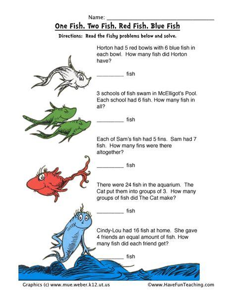 Dr Seuss Math Worksheet  Have Fun Teaching