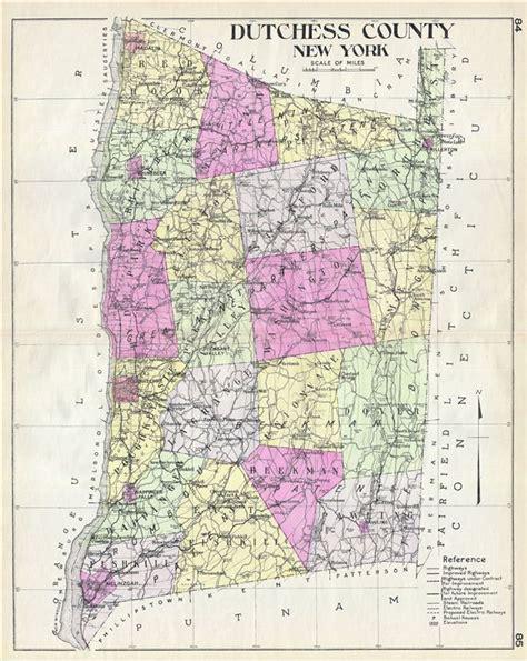 dutchess county  york geographicus rare antique maps